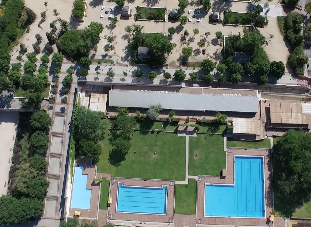 vista aerea de piscinas